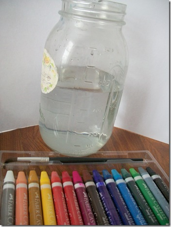 Water and Special Crayons