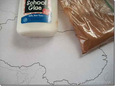 What do you get when you combine glue, cinnamon and a map?