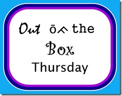 Out of the Box Thursday @SuzBroadhurst