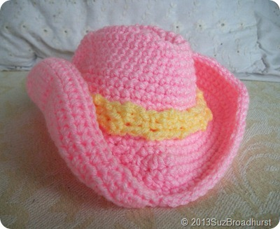 Cowgirl Baby Hat in Pink @SuzBroadhurst