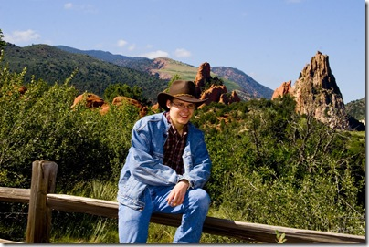 Grant in Garden of the Gods Park, Colorado Springs @SuzBroadhurst
