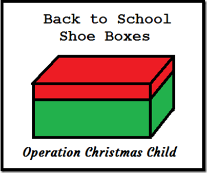 Collect those Shoeboxes for Operation Christmas Child