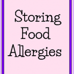 Storing Food Allergies @SuzBroadhurst