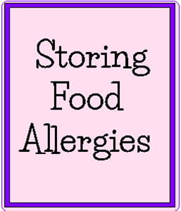 Storing Food Allergies