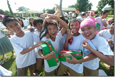 Excited Operation Christmas Children!