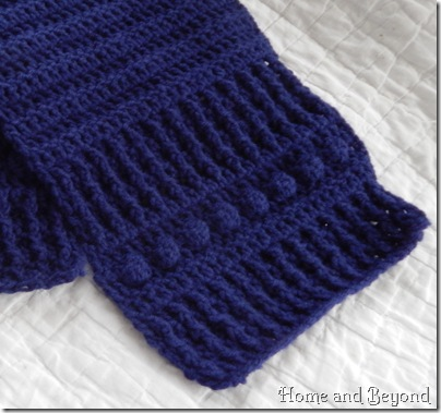 Final Rows of Even Jazzier Scarf for a Homeless One