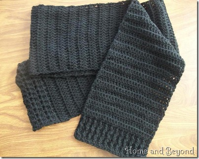 Gray Scarf Pattern
