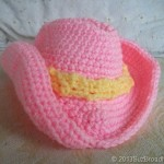 Crochet Pink Cowboy Hat for Doll Baby or Real Baby
