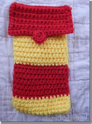 Red and Yellow Pencil Case