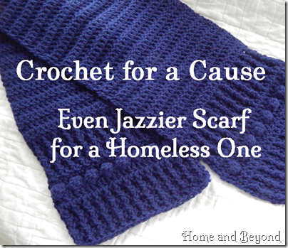 Crocheting For A Cause : Crochet for a Cause: Even Jazzier Scarf for a Homeless One