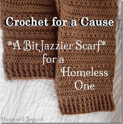 Crocheting For A Cause : Crochet for a Cause: A Bit Jazzier Scarf for a Homeless One Suzanne ...