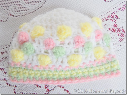 Even Jazzier Baby Hat in Pastel Bobbles