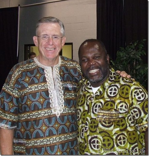 Pastor Ken Mitchell and Ernest Ehabe, Pres & CEO for BfL