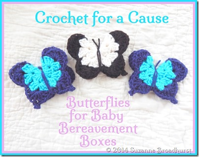 Crocheting For A Cause : Crochet for a Cause: Butterflies for Baby Bereavement Boxes Suzanne ...