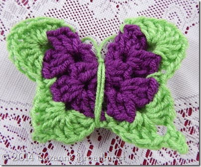 Butterfly with Yarn Antennae