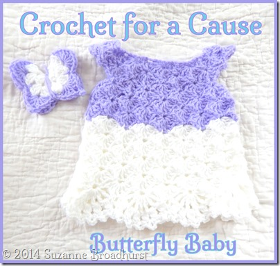 Crochet Layette in Lavender and White
