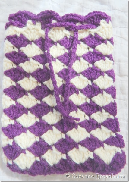 Baby Shell Gift Bag in Deep Purple and Aran