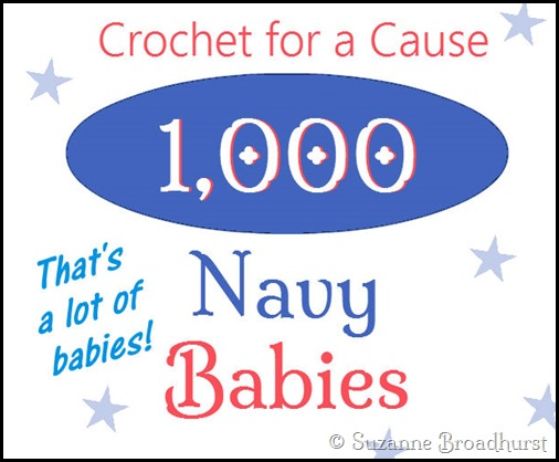 Crochet for a Cause_1000 Navy Babies