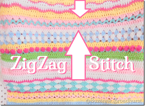 ZigZag Row in Fantasy Blanket