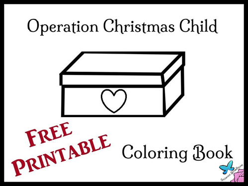Free Printable Coloring Book for Operation Christmas Child