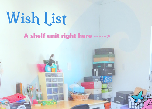 Wish List Shelf Unit