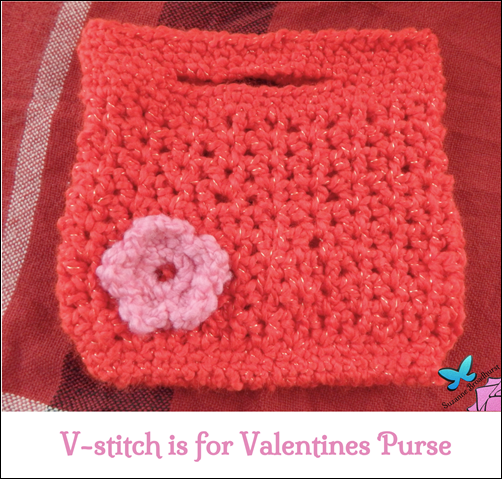 V-Stitch is for Valentines Purse