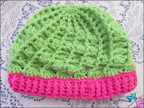 Divine Hat in Spring Green and Shocking Pink