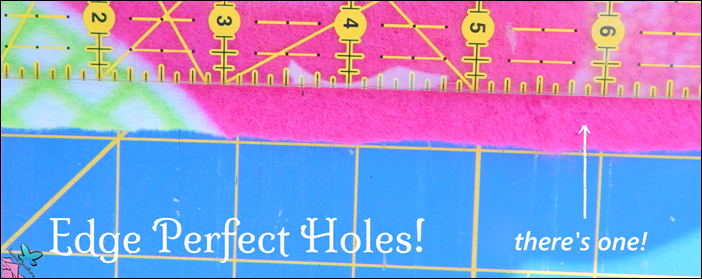 Edge Perfect Holes