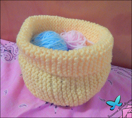 Knit Yarn Basket