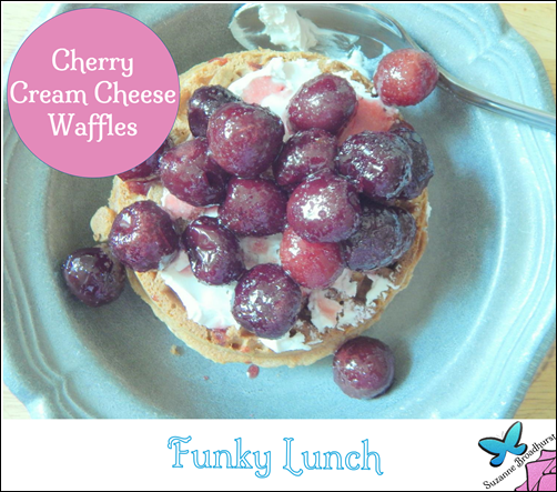 Funky Lunch_Cherry Cream Cheese Waffles