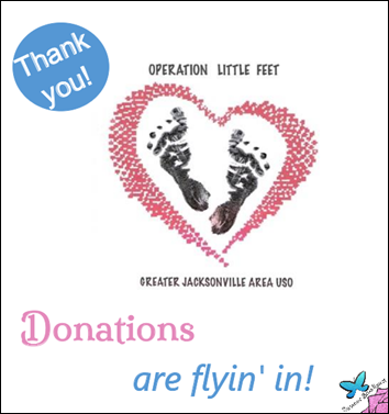 Operation Little Feet Donations are Flying In