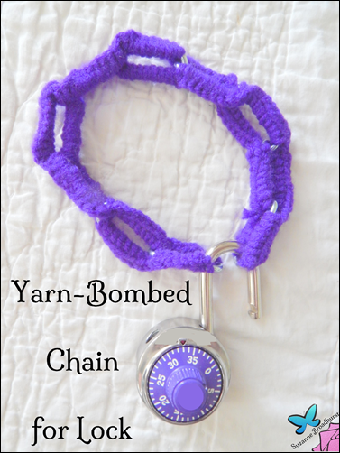 Yarn-Bombed Chain for Lock