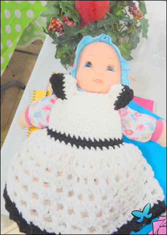 Baby Doll With Crochet Dress
