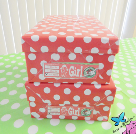 Polka Dot Shoeboxes