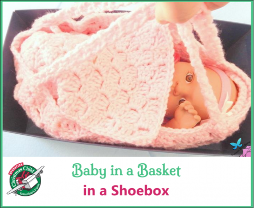 Baby in Basket in Shoebox