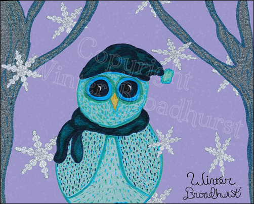 Owl Gift Card by Winter Broadhurst copyright
