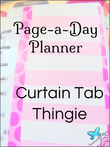 Planner Page-a-Day Curtain Tab Thingie Title Pic