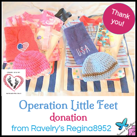 Donation from Regina8952 on Ravelry
