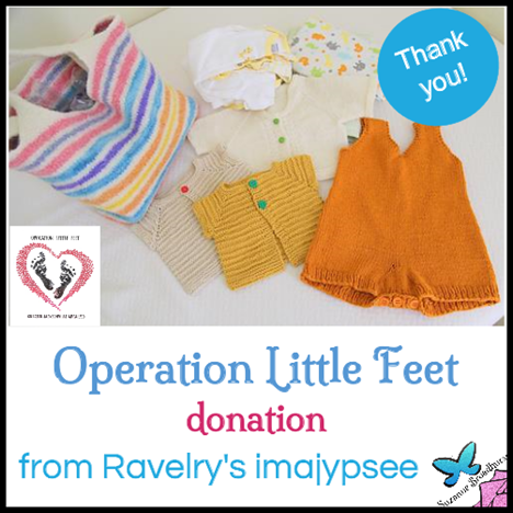 Donation from imajypsee on Ravelry