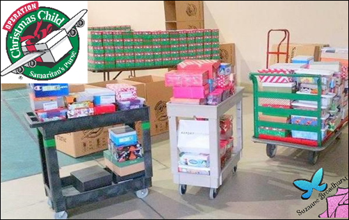 2015 Richard H Pic of Westside Chapel's Shoeboxes at the Collection Center