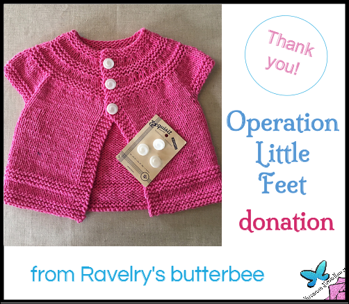 Donation from butterbee on Ravelry