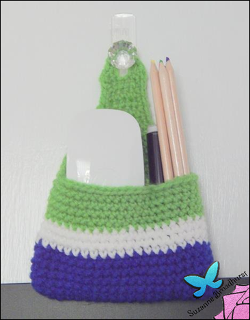 Crochet Holder for Chalkboard Supplies