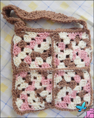 From Kim's Mom_Neopolitan Ice Cream Crochet Purse