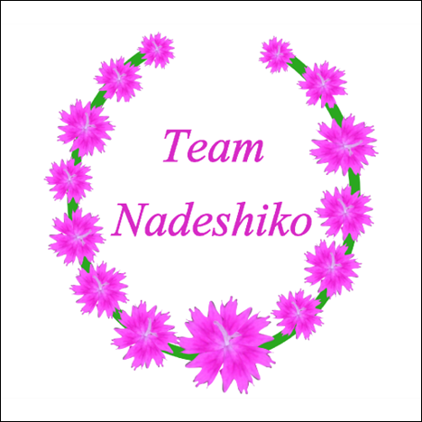 Laurel with Team Nadeshiko 500x500