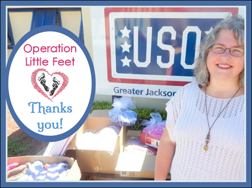 USO Delivery_Operation Little Feet Thanks You!