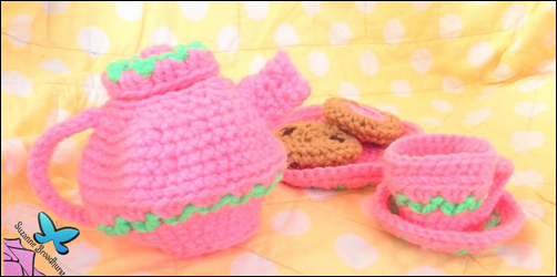Crochet Tea Party Set