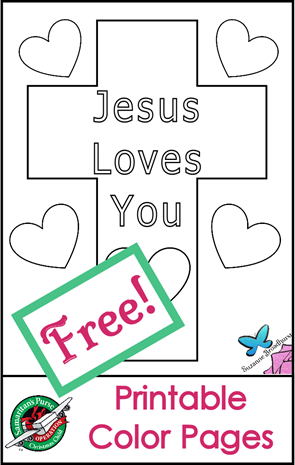 Free Printable Color Pages_Jesus Loves You