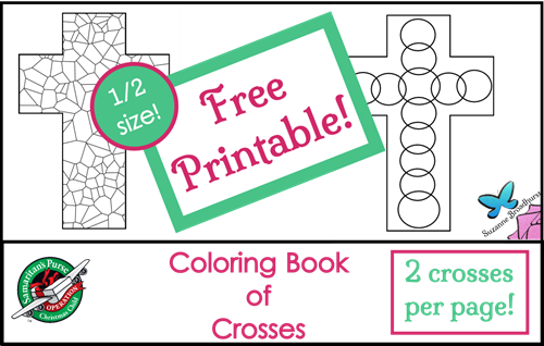 Free Coloring Book of Crosses - Half-size