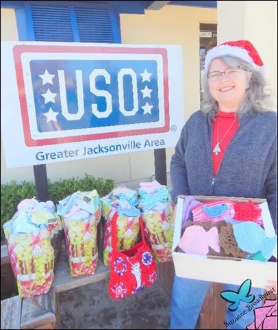 Suzanne at USO Christmas 2016 Delivery