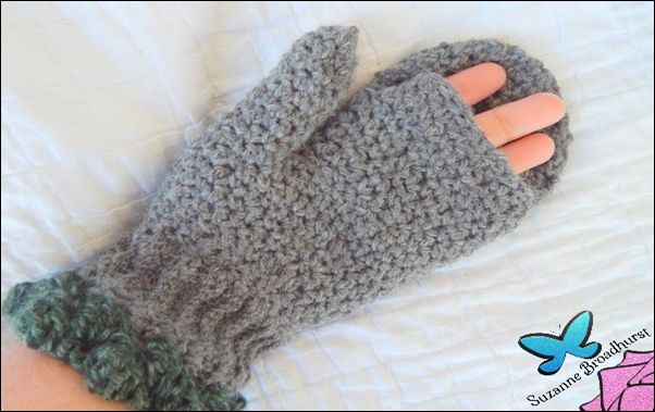 Fingerless Convertible Mittens_open
